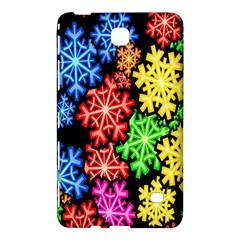 Colourful Snowflake Wallpaper Pattern Samsung Galaxy Tab 4 (8 ) Hardshell Case  by Nexatart