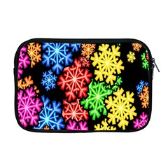 Colourful Snowflake Wallpaper Pattern Apple Macbook Pro 17  Zipper Case by Nexatart