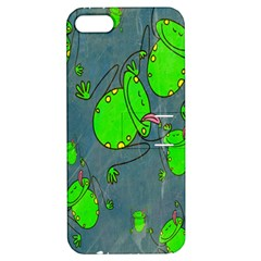 Cartoon Grunge Frog Wallpaper Background Apple Iphone 5 Hardshell Case With Stand