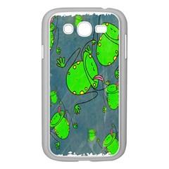 Cartoon Grunge Frog Wallpaper Background Samsung Galaxy Grand Duos I9082 Case (white) by Nexatart