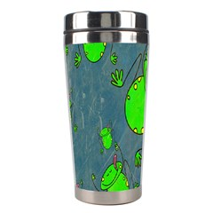 Cartoon Grunge Frog Wallpaper Background Stainless Steel Travel Tumblers by Nexatart