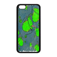 Cartoon Grunge Frog Wallpaper Background Apple Iphone 5c Seamless Case (black) by Nexatart