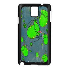 Cartoon Grunge Frog Wallpaper Background Samsung Galaxy Note 3 N9005 Case (black)
