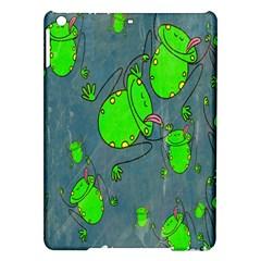 Cartoon Grunge Frog Wallpaper Background Ipad Air Hardshell Cases