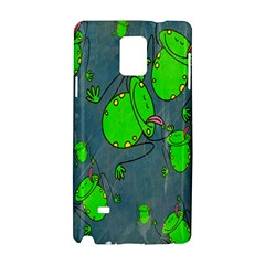 Cartoon Grunge Frog Wallpaper Background Samsung Galaxy Note 4 Hardshell Case