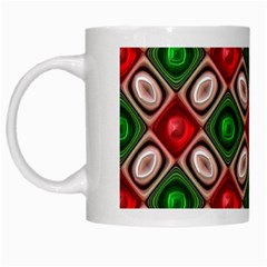 Gem Texture A Completely Seamless Tile Able Background Design White Mugs by Nexatart
