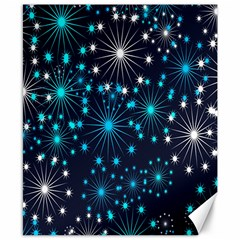 Digitally Created Snowflake Pattern Background Canvas 8  X 10