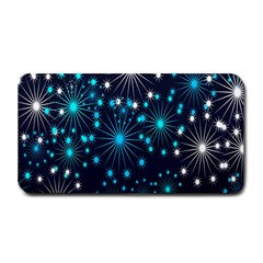 Digitally Created Snowflake Pattern Background Medium Bar Mats by Nexatart