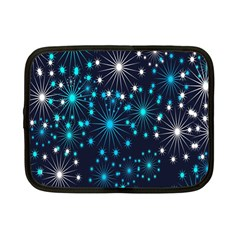 Digitally Created Snowflake Pattern Background Netbook Case (small)  by Nexatart