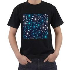 Digitally Created Snowflake Pattern Background Men s T Shirt (black) by Nexatart