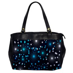 Digitally Created Snowflake Pattern Background Office Handbags by Nexatart