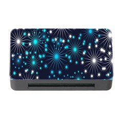 Digitally Created Snowflake Pattern Background Memory Card Reader With Cf by Nexatart