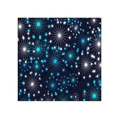 Digitally Created Snowflake Pattern Background Acrylic Tangram Puzzle (4  X 4 ) by Nexatart