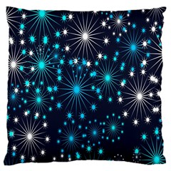 Digitally Created Snowflake Pattern Background Large Cushion Case (one Side)