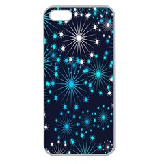 Digitally Created Snowflake Pattern Background Apple Seamless Iphone 5 Case (clear)