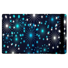 Digitally Created Snowflake Pattern Background Apple Ipad 2 Flip Case by Nexatart