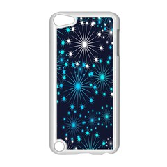 Digitally Created Snowflake Pattern Background Apple Ipod Touch 5 Case (white) by Nexatart