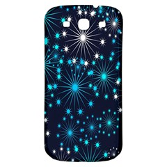 Digitally Created Snowflake Pattern Background Samsung Galaxy S3 S Iii Classic Hardshell Back Case by Nexatart