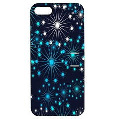 Digitally Created Snowflake Pattern Background Apple Iphone 5 Hardshell Case With Stand by Nexatart