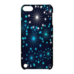 Digitally Created Snowflake Pattern Background Apple Ipod Touch 5 Hardshell Case With Stand by Nexatart
