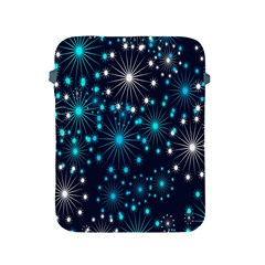 Digitally Created Snowflake Pattern Background Apple Ipad 2/3/4 Protective Soft Cases by Nexatart