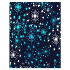 Digitally Created Snowflake Pattern Background Drawstring Bag (large) by Nexatart