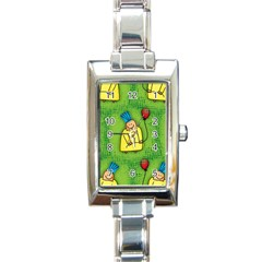 Party Kid A Completely Seamless Tile Able Design Rectangle Italian Charm Watch by Nexatart