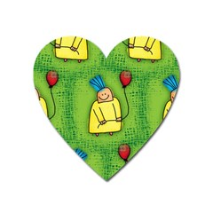 Party Kid A Completely Seamless Tile Able Design Heart Magnet