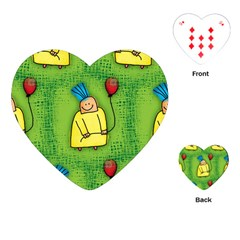 Party Kid A Completely Seamless Tile Able Design Playing Cards (heart)  by Nexatart