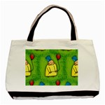 Party Kid A Completely Seamless Tile Able Design Basic Tote Bag (Two Sides) Back