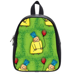Party Kid A Completely Seamless Tile Able Design School Bags (small)  by Nexatart