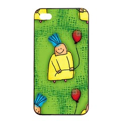 Party Kid A Completely Seamless Tile Able Design Apple Iphone 4/4s Seamless Case (black) by Nexatart