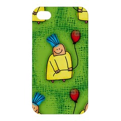 Party Kid A Completely Seamless Tile Able Design Apple Iphone 4/4s Hardshell Case by Nexatart
