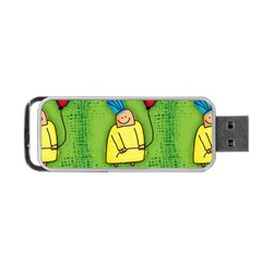 Party Kid A Completely Seamless Tile Able Design Portable Usb Flash (two Sides) by Nexatart
