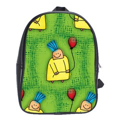 Party Kid A Completely Seamless Tile Able Design School Bags (xl)
