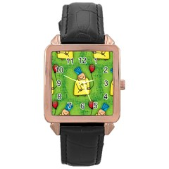 Party Kid A Completely Seamless Tile Able Design Rose Gold Leather Watch  by Nexatart