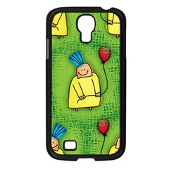 Party Kid A Completely Seamless Tile Able Design Samsung Galaxy S4 I9500/ I9505 Case (black) by Nexatart
