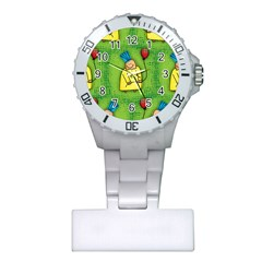 Party Kid A Completely Seamless Tile Able Design Plastic Nurses Watch by Nexatart