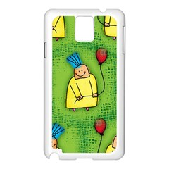 Party Kid A Completely Seamless Tile Able Design Samsung Galaxy Note 3 N9005 Case (white) by Nexatart