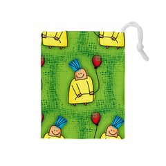 Party Kid A Completely Seamless Tile Able Design Drawstring Pouches (medium)  by Nexatart