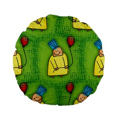 Party Kid A Completely Seamless Tile Able Design Standard 15  Premium Flano Round Cushions