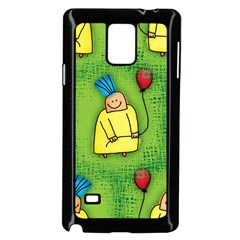 Party Kid A Completely Seamless Tile Able Design Samsung Galaxy Note 4 Case (black) by Nexatart