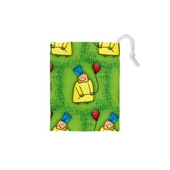 Party Kid A Completely Seamless Tile Able Design Drawstring Pouches (xs)  by Nexatart