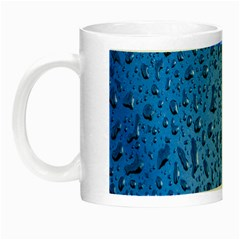 Water Drops On Car Night Luminous Mugs