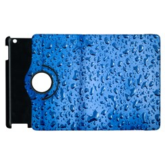 Water Drops On Car Apple Ipad 2 Flip 360 Case by Nexatart