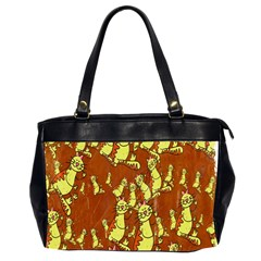 Cartoon Grunge Cat Wallpaper Background Office Handbags (2 Sides)  by Nexatart