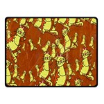 Cartoon Grunge Cat Wallpaper Background Fleece Blanket (Small) 50 x40 Blanket Front