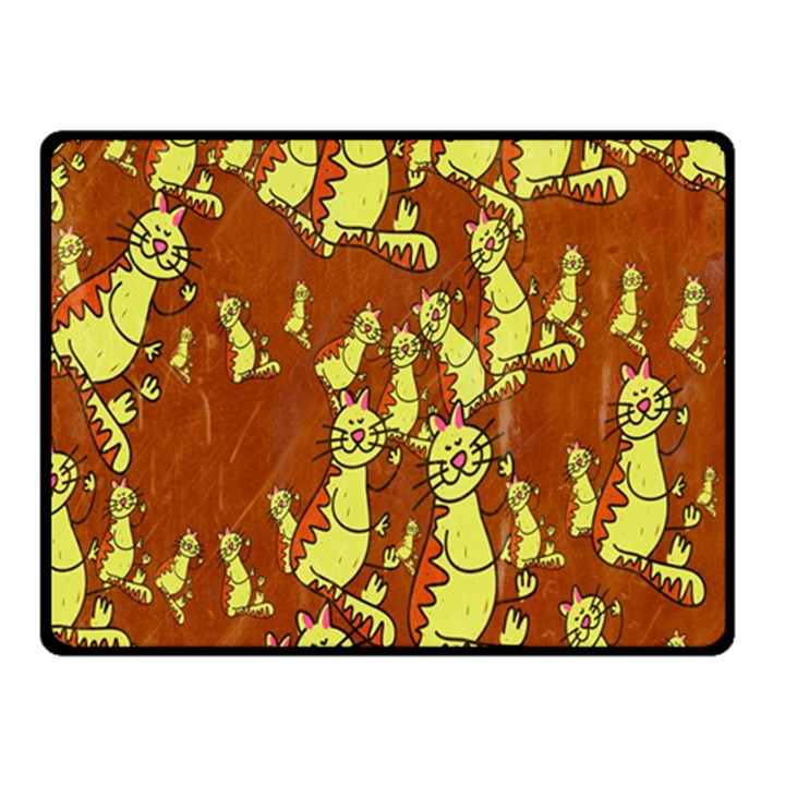 Cartoon Grunge Cat Wallpaper Background Fleece Blanket (Small)