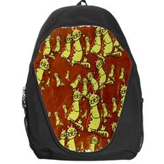Cartoon Grunge Cat Wallpaper Background Backpack Bag by Nexatart