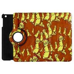 Cartoon Grunge Cat Wallpaper Background Apple Ipad Mini Flip 360 Case